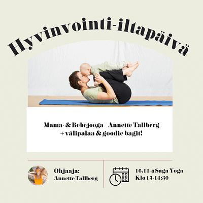 Äitipiirin Hyvinvointi-iltapäivä 16.11. @Saga Yoga, Punavuori | Mama- & Bebejooga