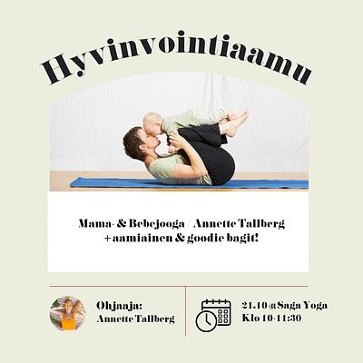 Äitipiirin Hyvinvointiaamu 21.10. @Saga Yoga, Punavuori | Mama- & Bebejooga